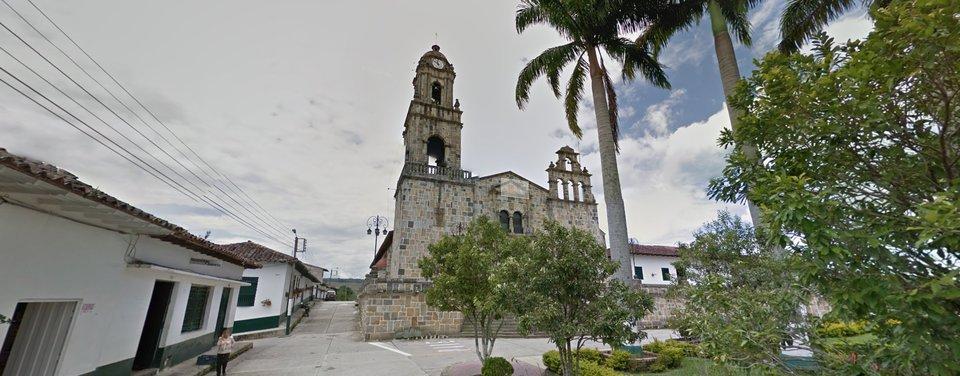 Templo Nuestra Señora de Guadalupe de Moguer - Quebrada Las Gachas Guadalupe Santander